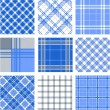 Plaid patterns — Stock Photo