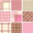 Stock Photo: Plaid patterns