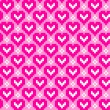 Seamless pattern with hearts — Stock Photo #6665517