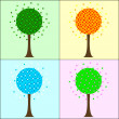 Four seasons trees — Stock Photo