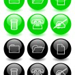 Stock Photo: Set of glossy icons (ver 2)