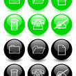 Set of glossy icons (ver 2) — Stock Photo #6666344