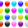 Big set of colorful buttons — Stock Photo