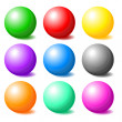 Set of colorful spheres — Stock Photo