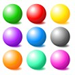 Stock Photo: Set of colorful spheres