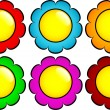 Set of flower buttons — Stock Photo