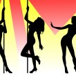 Pole dancers — Stock Photo