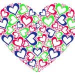 gestileerde hart — Stockfoto