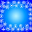 Stock Photo: Frame from snowflakes