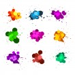 Color ink splats — Stock Photo #6666692