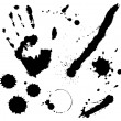 Stock Photo: Ink splats and prints