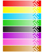 Set of abstract banners with pixels — Stock Photo