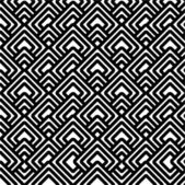 Geometric black & white pattern — Stock Photo