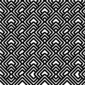 Geometric black & white pattern — Stock Photo
