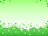 Green background with pixels — Stock Photo