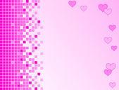 以像素为单位) 和心粉红色背景 — 图库照片
