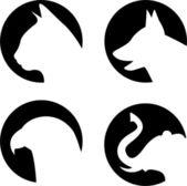 Logo animals — Stock Photo
