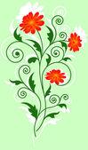 花のデザイン要素 — ストック写真