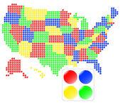 Kaart van de verenigde staten — Stockfoto