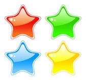 Star buttons — Stock Photo