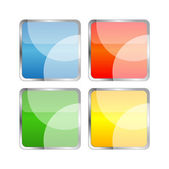 Beautiful square buttons — Stock Photo