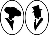 Lady and gentleman — Stock Photo