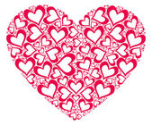 Stylized red heart — Stock Photo