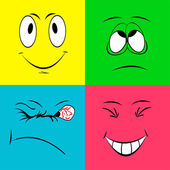 Cheerful smiley faces — Stock Photo