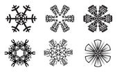 Set of beautiful snowflakes — Stock Photo
