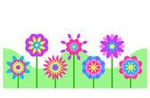 Frontera de flor — Foto de Stock