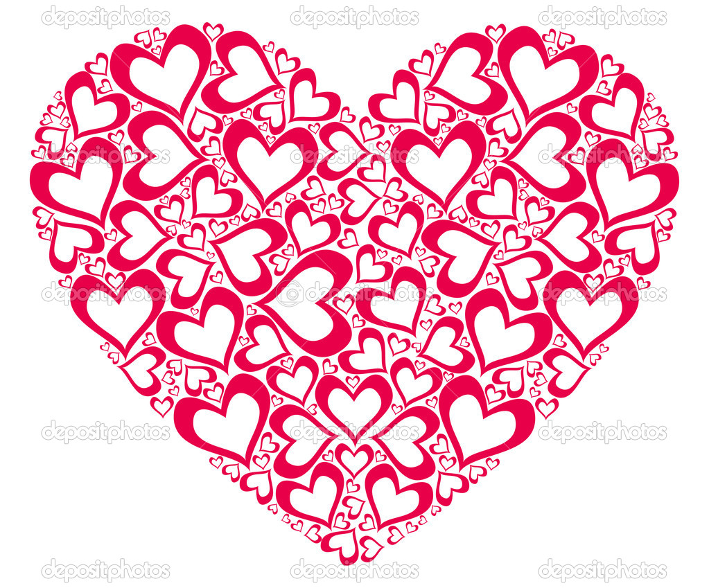 Stylized red heart  Stockfoto #6666600