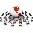 Global network the Internet. Isolated 3D - Stock Photo