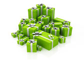 Scatole regalo verde. immagine 3d — Foto Stock