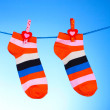 Royalty-Free Stock Photo: Bright striped socks