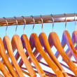 Wooden clothes hangers — Stock Photo #6659865