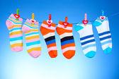 Bright striped socks — Stock Photo
