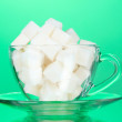 Stock Photo: Refined sugar in cup