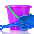 Baby toy bucket and shovel — Stock Photo