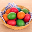 Easter Eggs in basket — Stock Photo #6660722
