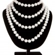 Royalty-Free Stock Photo: Pearl necklace on black mannequin