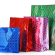Colorful shopping bags isolated on white background — Stock Photo