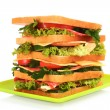 Huge sandwich on white background — Stock Photo