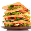 Huge sandwich on white background — Stock Photo #6661531