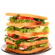 Huge sandwich on white background — Stock Photo #6661540