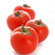 Red tomato vegetables isolated on white background — Stock Photo #6661573