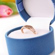 Golden ring isolated on the white background — Stock Photo