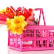 Flowers in the pink box — Stock Photo #6661849