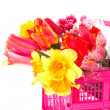 Flowers in the pink box — Stock Photo #6661861