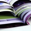 Many color magazines — Stock Photo