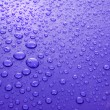 Blue water drops background with big and small drops — Stock Photo #6667711